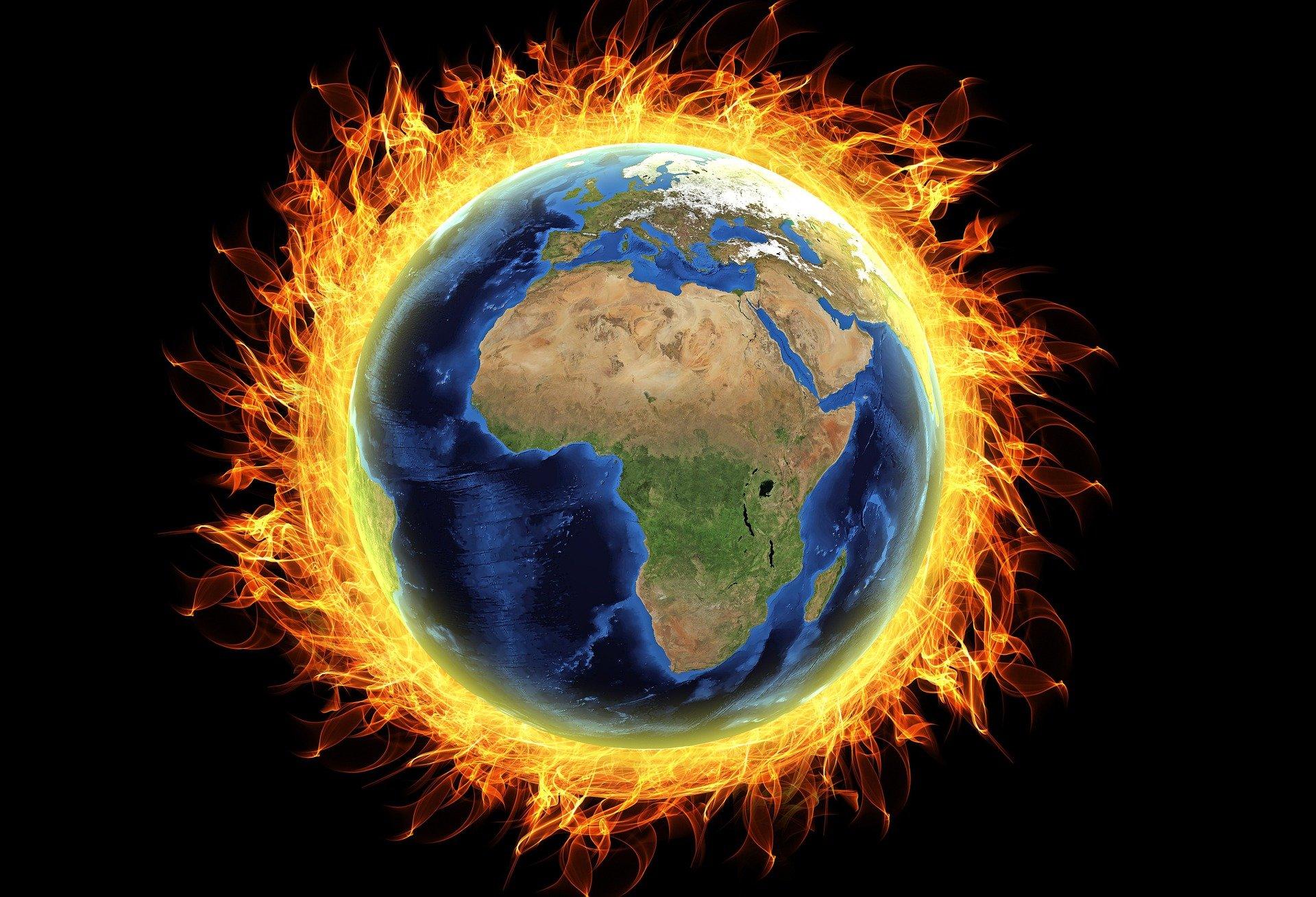 world burning